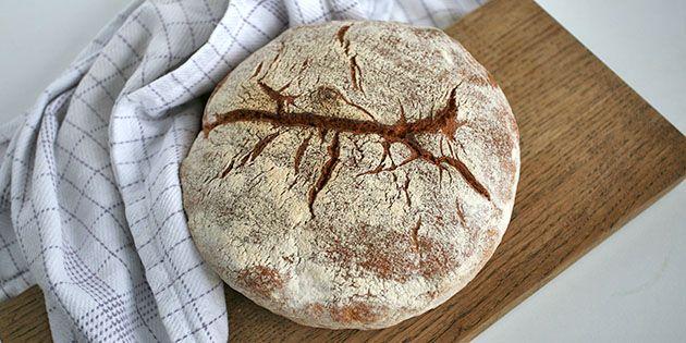 Skønt grydebrød, der er bagt med ølandshvede, så det får en super dejlig smag.
