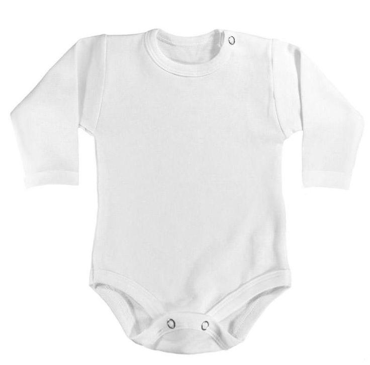 České bílé body s dlouhým rukávkem, ze silnější oboulícní tričkoviny.  ideální na podzim a zimu.  Vhodné i k namalování nějakého hezkého motivu barvami na textil (my používáme Nerchau)   Můžete si tak vytvořit originální body, které nikdo jiný v ulici nemá ;-)