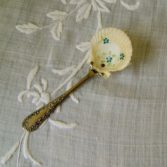 Victorian  Spoon Souvenir Silver Plate Hand by SilverFoxAntiques