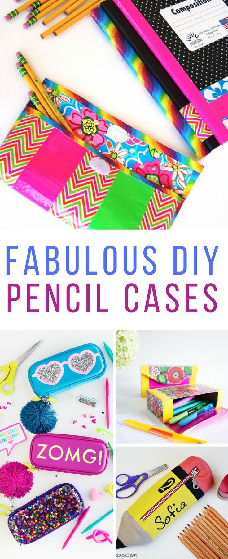 Loving these DIY pencil cases! Perfect for back to school!
