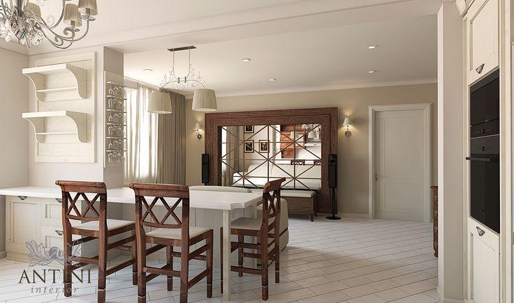 Представляя эту модель апартаментов – студио, выполненных в стиле модерн, наш дизайнер сумел воплотить в них два на наш взгляд сложно сочетаемых параметра: строгость и легкость.