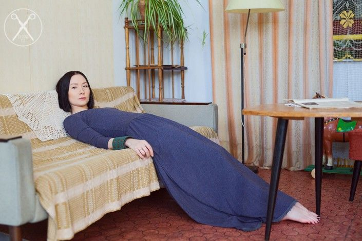 Gray Blue Romantic Maxi Long Dress  | A/W 15/16 | Second ME | www.secondme.eu