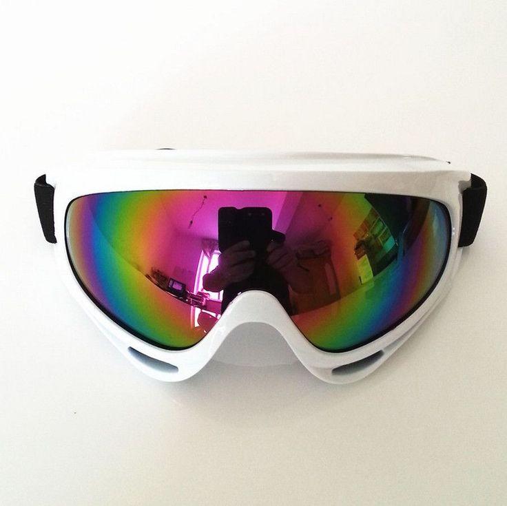 Men Women Ski Snowboard Snowmobile Motorcycle Goggles Dirt Bike Glasses Motocross Off-Road Eyewear Color Lens 14Colors Avaliable