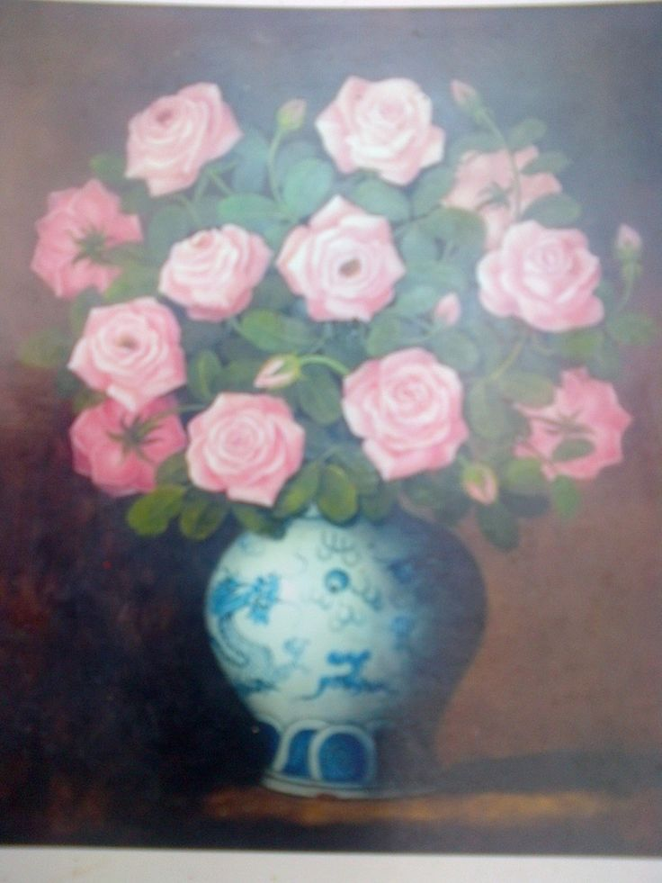 Jual Lukisan Bunga - oil on canvas - 30-70 cm - Rp 450.000-850.000