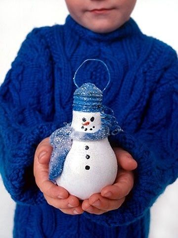 Light Bulb Christmas Ornament Craft | Light Bulb Snowman christmas-ideas-crafts | Design