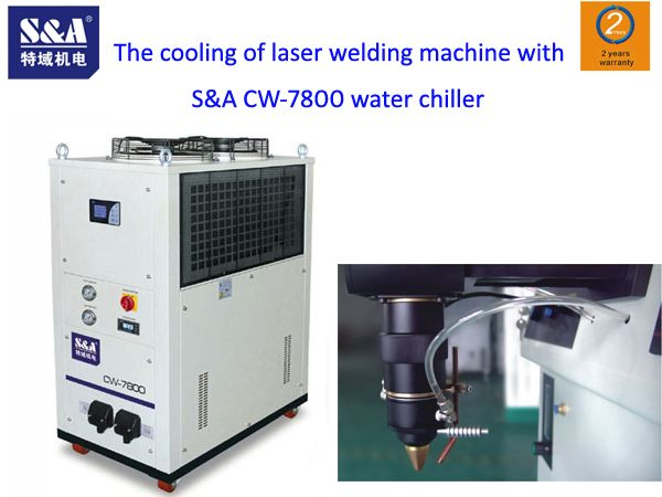 Recently, Mr. Chen, a customer from Shenzhen, contacted S&A to purchase S&A CW-7800 water chiller for cooling laser welding machine. As the laser welding machine purchased by the customer was second-hand which was not equipped with water chiller, the worker of S&A asked Mr. Chen about the detailed condition responsibly, so as to ensure that the water chiller could meet the cooling requirement of the laser welding machine.  http://www.teyuchiller.com/Article/Thecoolingoflaserwel_1.html