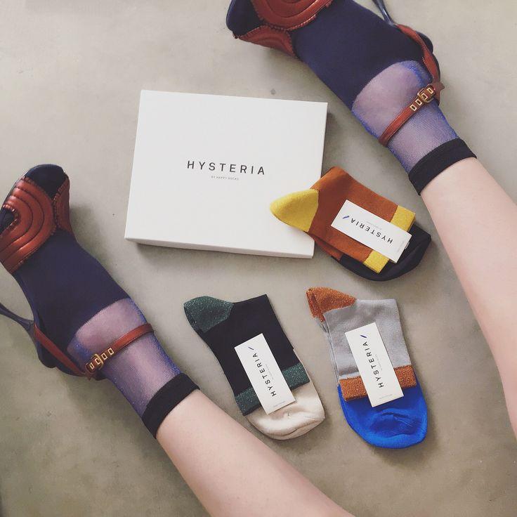 HYSTERIA BY HAPPY SOCKS. ・ ・  '' HYSTERIA BY HAPPY SOCKS '' Launch Party yesterday‼︎ Soooo cute socks everywhere in shop, I bought these socks;)) ‼︎ #hysteria #hysteriabyhappysocks #hysteriasocks #socksaddict #sockswag #sockstagram #sockslover