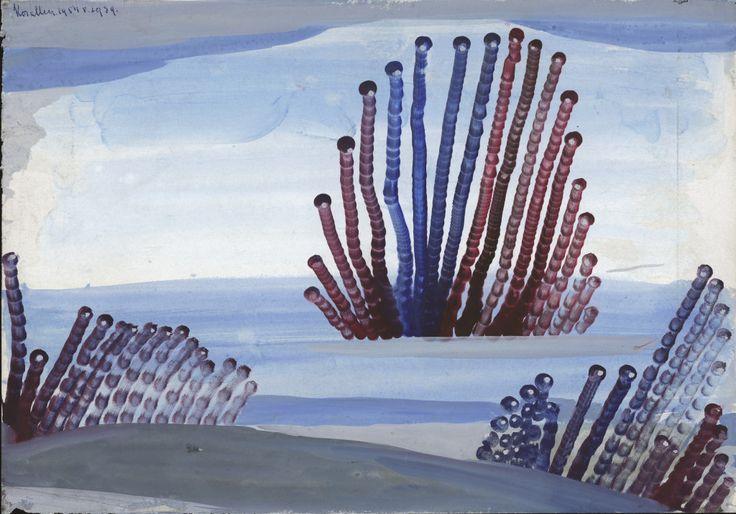 Eugen Gabritschevsky : sans titre, 1939, gouache sur papier, 21 cm x 30. Atelier de numérisation-Ville de Lausanne, Amélie Blanc, Caroline Smyrliadis