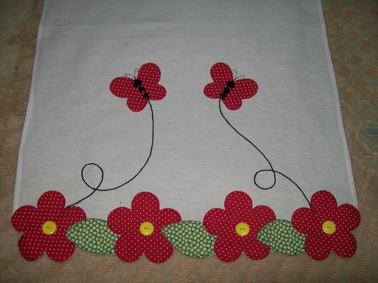cute applique border/towel/table runner