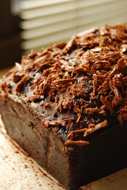 Quadruple Chocolate Loaf Cake...adapted from recipe by Nigella Lawson