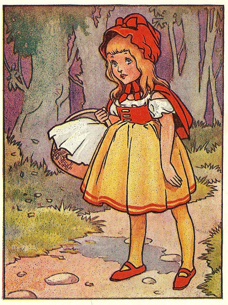 картинки рисунки из сказки красная шапочка так известно как