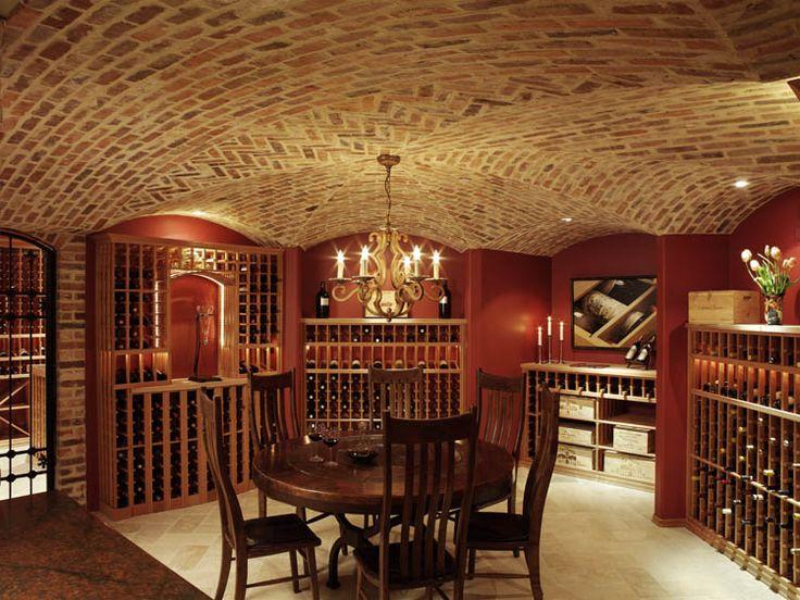 Gorgeous custom brick ceiling wine cellar with display lighting. & 15 best Custom Wine Cellars images on Pinterest | Cellar doors Wine ...
