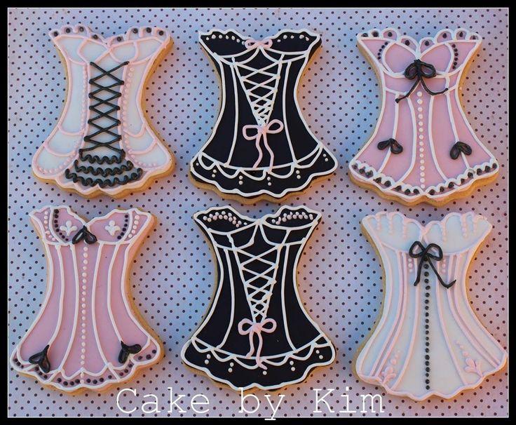 Burlesque corset cookies x