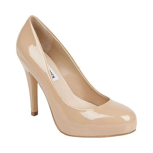 Been dying for a pair of simple nude pumps for ages. These may be a little tall, but could do the trick.