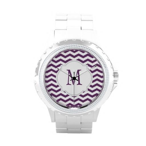 Purple & White #Chevron #Pattern #Watch $52.95 Get 15% off thru May 4th 2014 with code: MOMMYIOUSALE #mom #mothersday #giftsformom