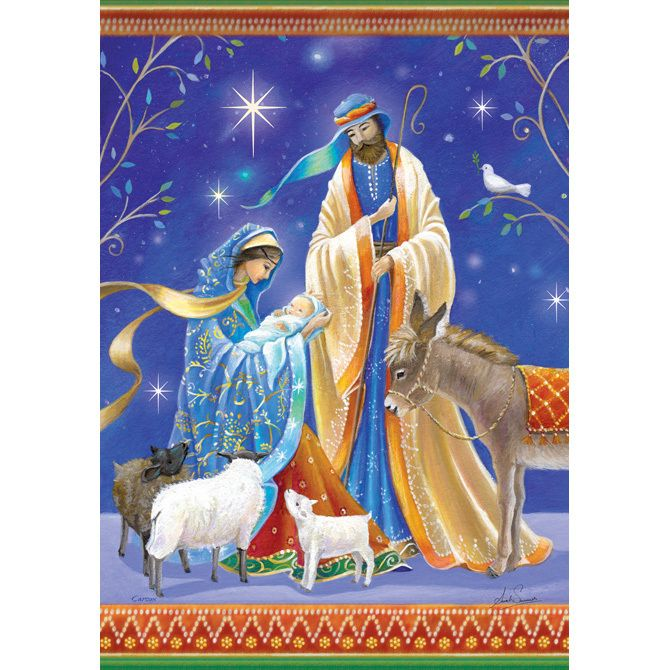Classic Nativity Scene Garden Flag Artistically Rendered With Gorgeous  Color And Flair. This Beautiful Flag Will Enhance Almost Any Christmas  Holiday ...