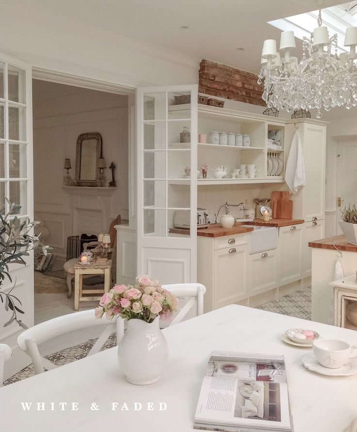 Country White Kitchen Beautiful Home Pinterest