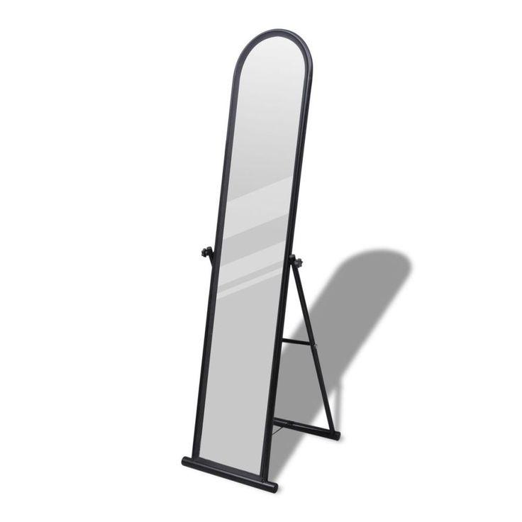 Free Standing Floor Rectangular Mirror Black Full Length Dressing Bedroom Decor