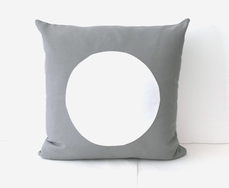 Throw Pillow, Geometric Modern Home Accent, White  Circle on Grey, Minimal Decor by CushionsandMore on Etsy https://www.etsy.com/listing/170867198/throw-pillow-geometric-modern-home