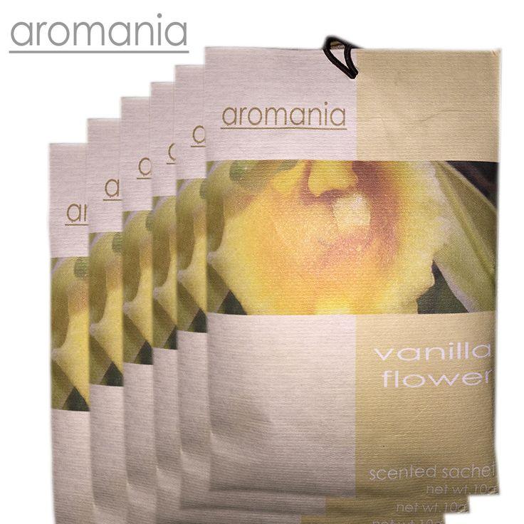 6 Stks/partij Aromania Verse Vanille Bloem Geurende Zakje Geur Lade Zakje Tas Voor Slaapkamer Auto Smaak Geur Indian