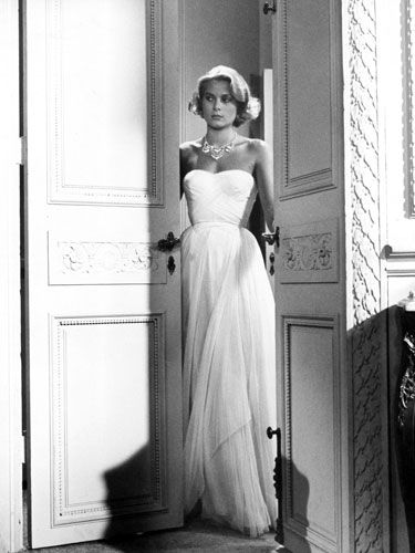 Grace Kelly in To Catch a Thief. That movie is full of beautiful costumes but this has always been my favorite dress from the film!