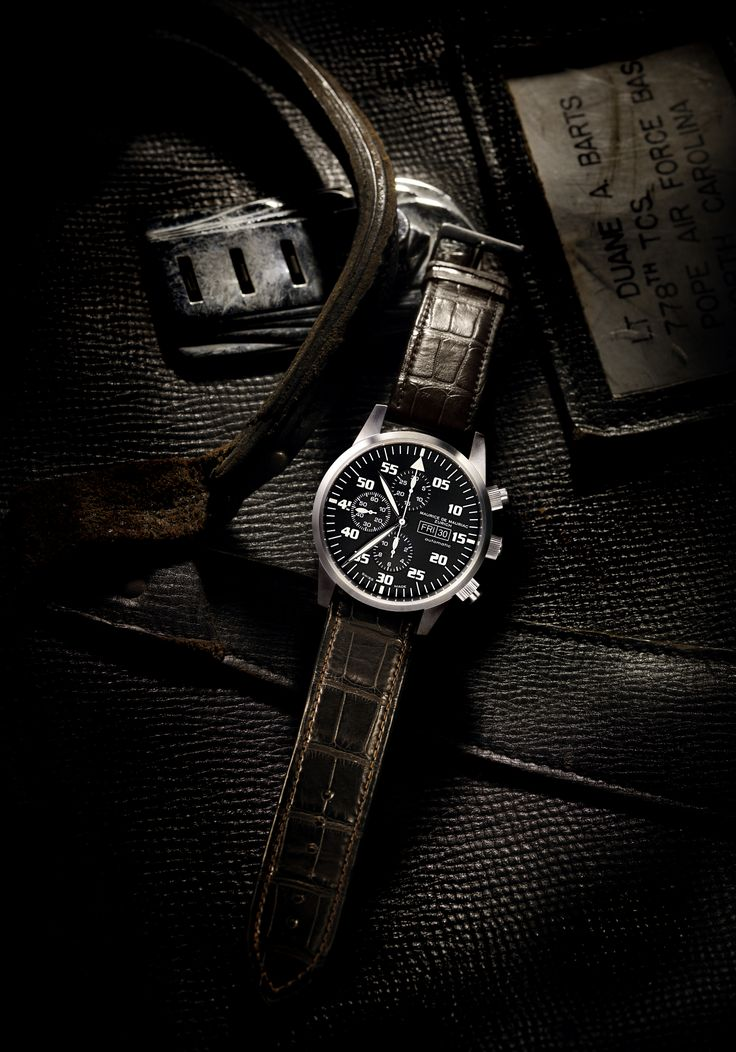 Chronograph Modern Watch from Maurice de Mauriac. Luxury Swiss watches for men and women, hand crafted in Zurich, Switzerland.   http://www.mauricedemauriac.ch/