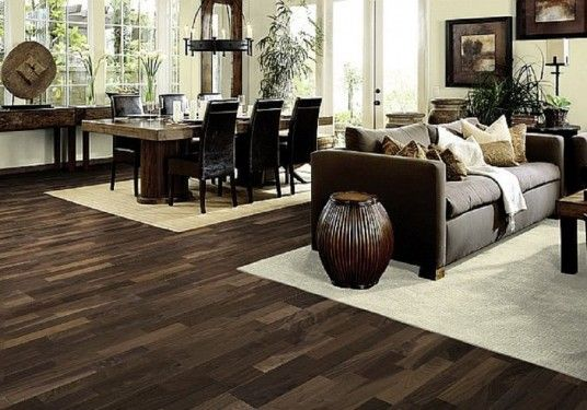 Classic Dark Wood Flooring on Cheap Hardwood Flooring Design Awesome Living Dining Room Cream Carpet Area