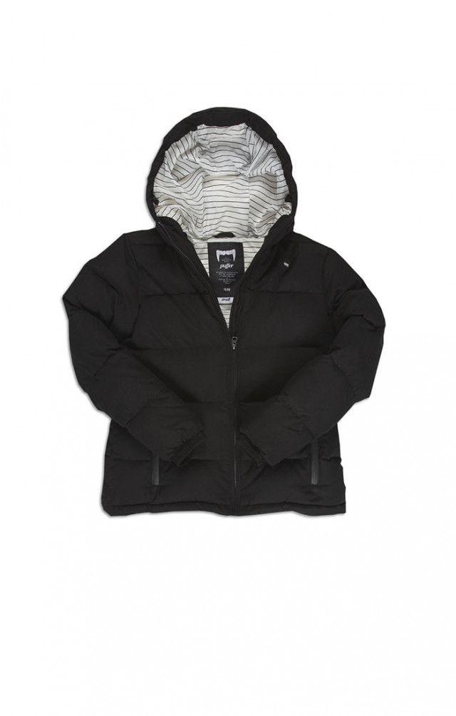 zero down puffer jacket black