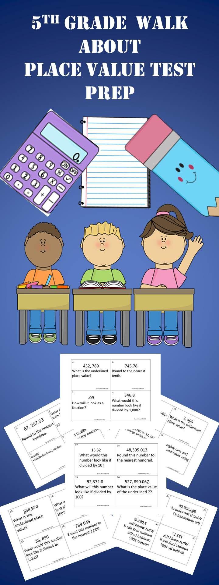 5th grade place value task cards teaching math and decimal. Black Bedroom Furniture Sets. Home Design Ideas