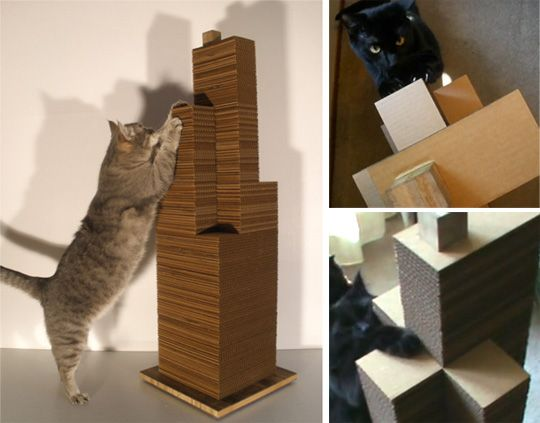 1000 images about diy cardboard cat scratch on pinterest diy cardboard cats and cat scratcher - Modern cat scratcher ...