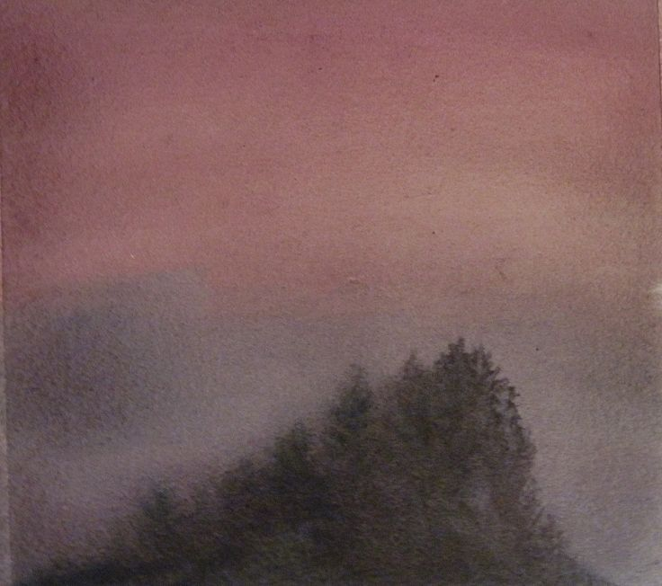 """Mystery Hill"" watercolor on paper, Valerie Claff, 2010"