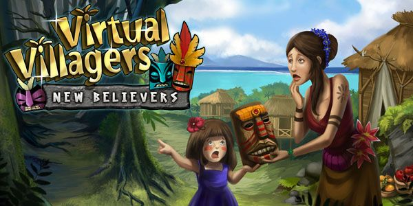 Virtual Villagers 5: New Believers CHAPTER 5 : Explore the center of Isola in this innovative new chapter in the Virtual Villagers series, while you reckon with a band of mysterious masked heathens, who do not believe in you! Guide your tribe as they attempt to convert the savages, by dismantling their precious totems and removing their scary masks! Make them believe!