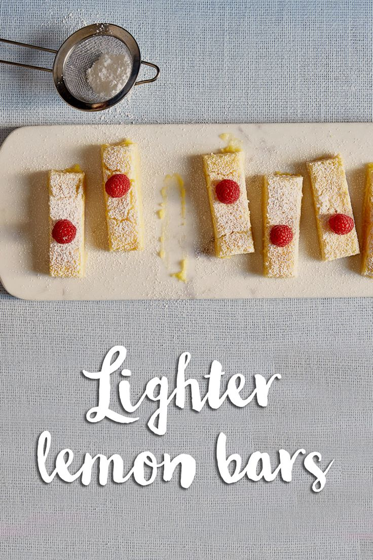 Looking for a light summer dessert recipe? We've got you covered! These summery Lighter Lemon Bars are a great guilt-free treat!