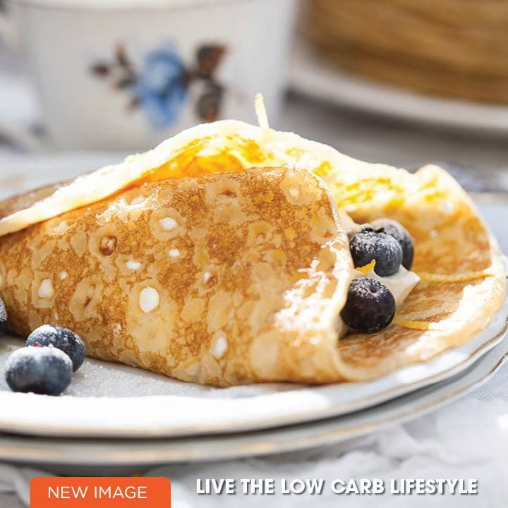 Amazing low carb dessert - Blueberry Crepes