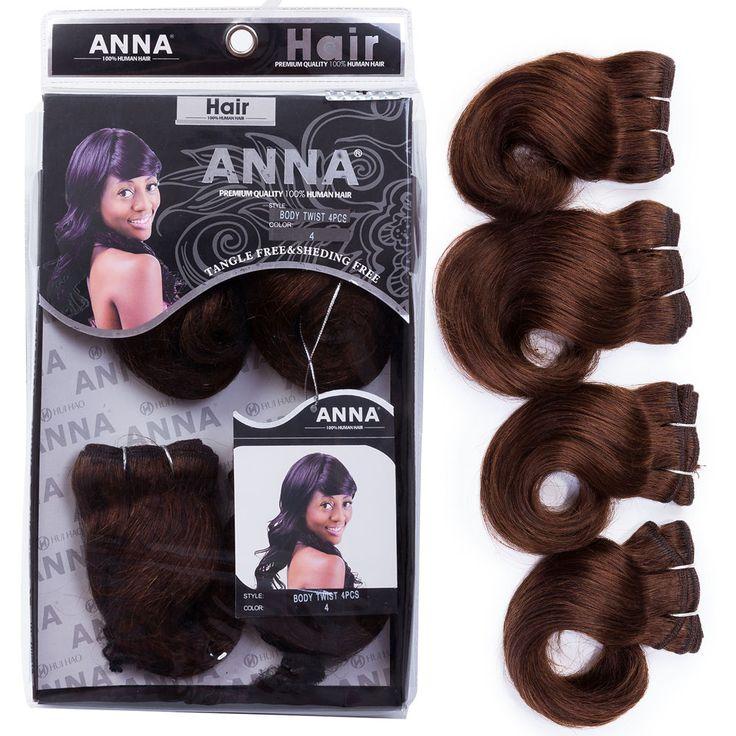 Evet giro del cuerpo humano brasileño 7A pelo sin procesar onda del cuerpo virgen del pelo teje 4 unids Set para extensiones de cabello cabeza llena # 1b #4