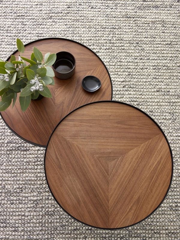 Chloe Nest Tables Coffee Table Design Walnut Timber Sectional