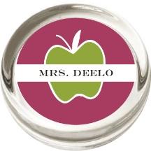 green apple teacher paperweight - 25% off today only! Promo Code MAYPW.  #teachersgift