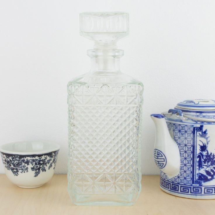 Botella de licor tallada tapón cuadrado | Antic&Chic
