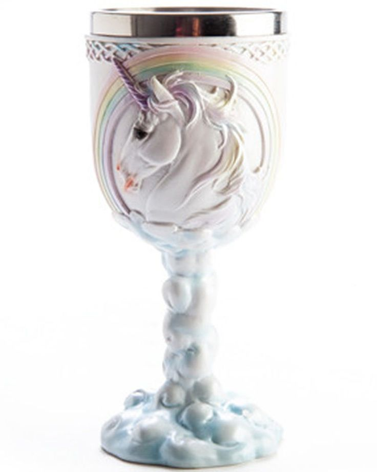 Flying Unicorn Kawaii Pastel Goth Goblet Drinking Cup Wine Glass Rainbow Cute   eBay