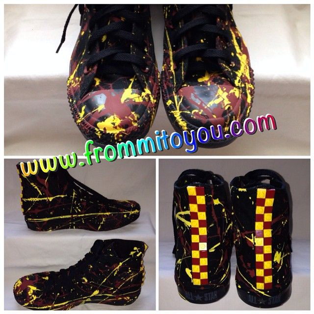 Redskins Painted Adidas Shoes