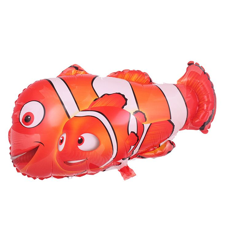 Free shipping the new aluminum film balloon toy for children birthday party clown fish wholesale balloons