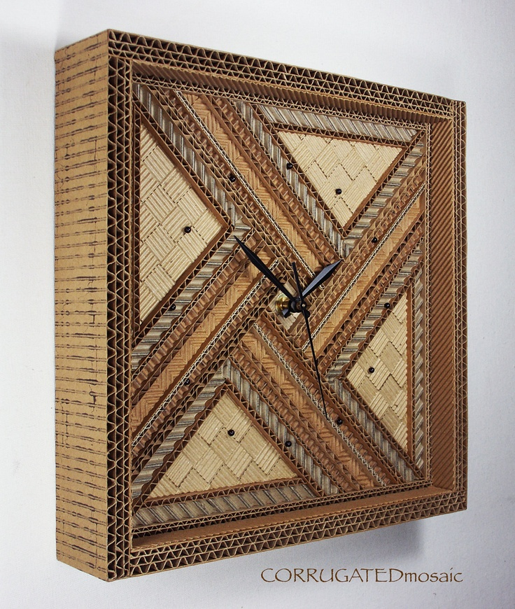 how to make a wall clock with cardboard