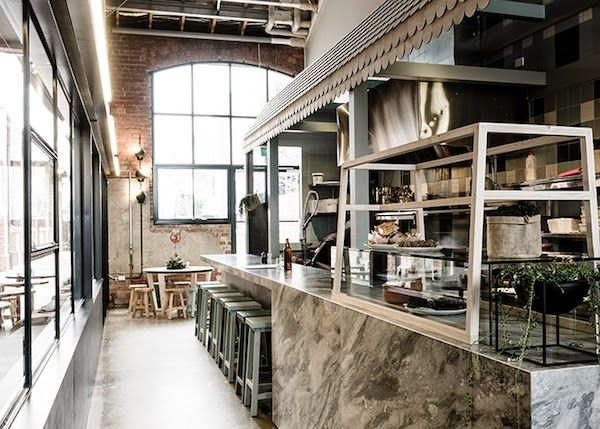 vosgesparis an industrial interior in concrete and steal patch cafe melbourne winkel restaurant pinterest industrial interiors melbourne and cafes - Concrete Cafe Interior