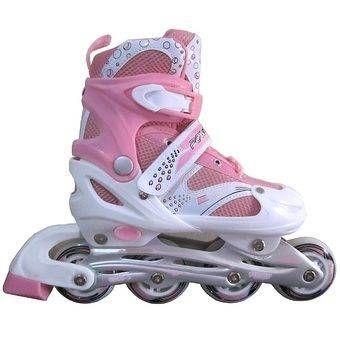 Sport Power Line Sepatu Roda Anak - Pink - L