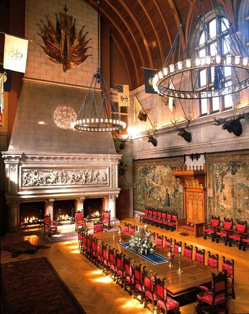 Picture of the Banquet Hall at the Biltmore House in Asheville, North Carolina