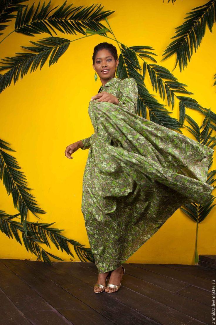 "Buy floor-length dress ""charm paisley"" - paisley, floor-length dress, long dress"