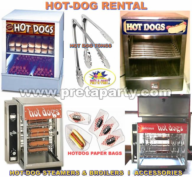 Hot-Dog Machine rentals from Montreal's Prêt-A-Party!