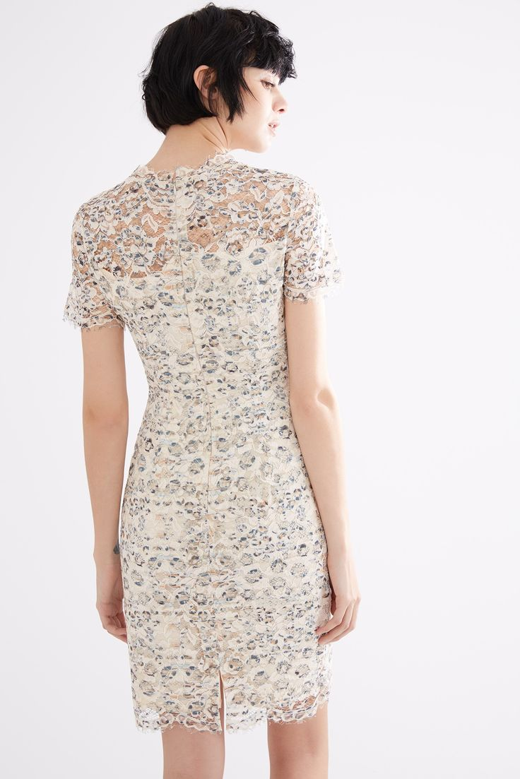Vestido the wild print de encaje vestidos adolfo for Adolfo dominguez outlet online