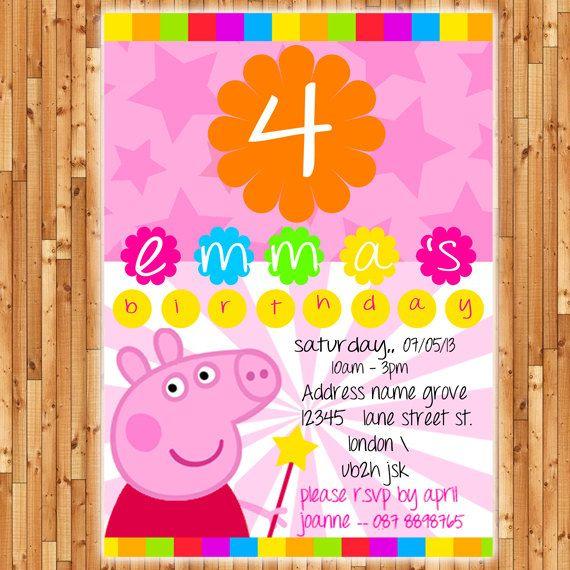 54 best Peppa Pig invitations images on Pinterest