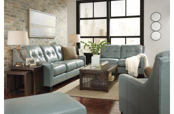 O'Kean 2pc Living Room Set in Sky